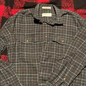 Men's long sleeve flannel button down